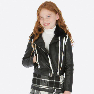 New Mayoral Girls faux leather jacket, Age 8 years (7413)