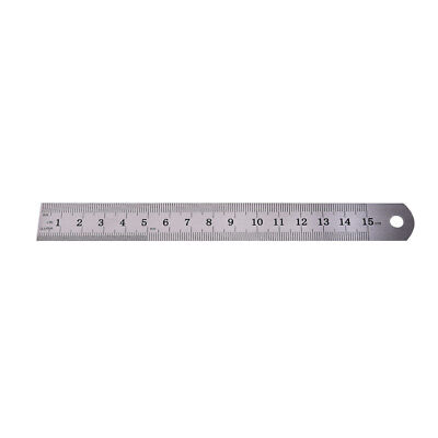 1PC Metric Rule Precision Double Sided Measuring Tool  15cm Metal Ruler HV