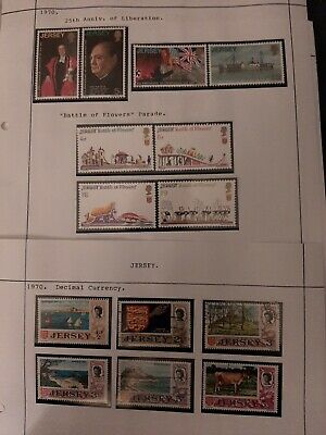 Jersey 1970 3 x Sets mostly mint never hinged some decimal currency used