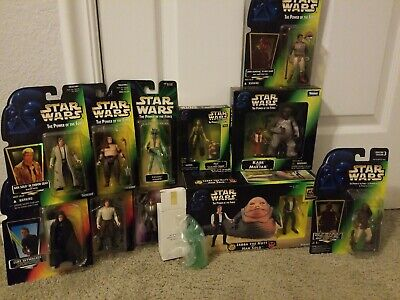 Star Wars Power of the Force JABBA THE HUTT and HAN SOLO Lot