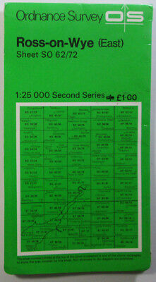 1977 old OS Ordnance Survey Second Series Pathfinder map SO 62/72 Ross-on-Wye E