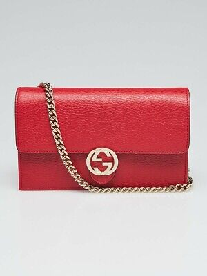 NEW GUCCI WOMENS Bag Wallet On Chain GG Shoulder Crossbody