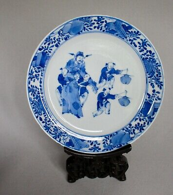 19thc Chinese porcelain Blue and white plate