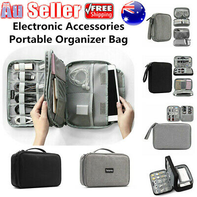 Portable Cable Storage Bag Electronic Accessories USB Drive Travel Organizer