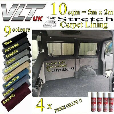 10 sqm CAMPER VAN CARPET LINING STRETCH VW T1 T2 T5 T6 TRANSIT SPRINTER CARAVAN