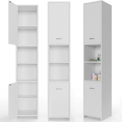 73 in | Bathroom Cabinet Tall Cupboard Furniture Large Tallboy Storage Unit Home