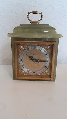 Vintage British Elliott London Green Onyx 8 day Clock ..boodle chester
