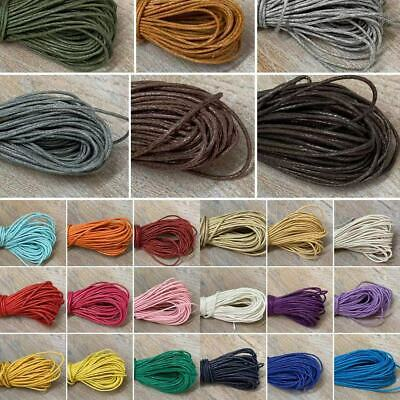 Waxed Cotton Cord, Black Brown Red Jewellery twine thread  beads laces 1mm Thick