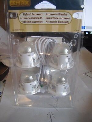 Lemax Christmas 4 Moonlighter string. Light 4 houses - need 4.5 Volt accessory.