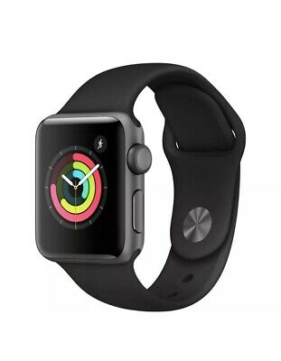 APPLE Watch Series 3 - (GPS) Space Black Sports Band, 38 mm