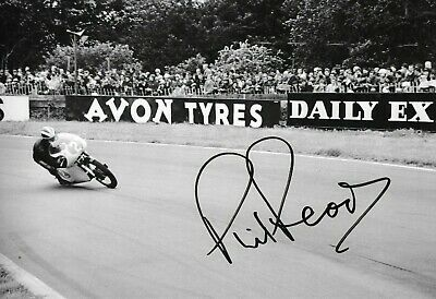Phil Read SIGNED  12x8 ,  350cc Gilrea , Oulton Park 1963