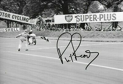 "Phil Read SIGNED  12x8 ,  350cc Gilrea , "" Victory ""  Oulton Park 1963"