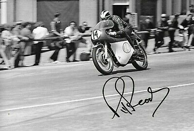 Phil Read SIGNED  12x8 ,  350cc AJS ,  Isle of Man TT 1964