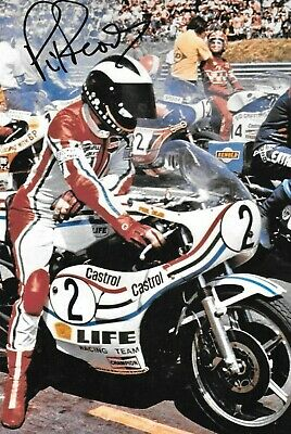 Phil Read SIGNED  12x8 ,  Suzuki Portrait , 1976 500cc Motorcycle GP Season