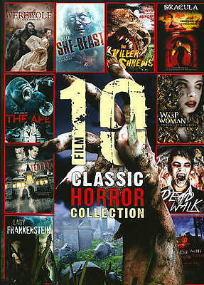 10 Film Classic Horror Collection (DVD, 2013, 2-Disc Set) 1345