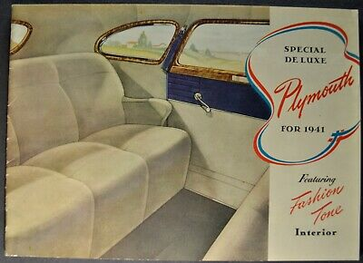 1941 Plymouth 20pg Brochure Coupe Convertible Woody Wagon Excellent Original 41