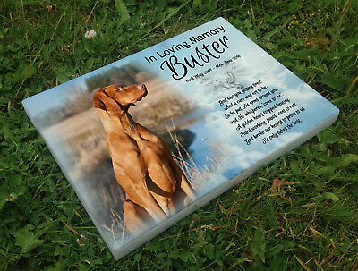 Personalised grave headstone memorial plaque dog Irish Setter or any breed