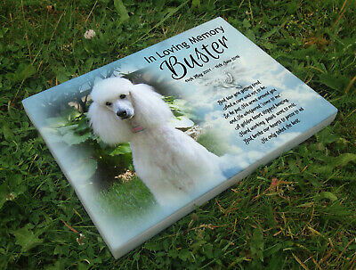 Personalised grave headstone memorial plaque dog Poodle or any breed