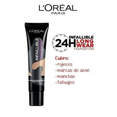 LOREAL Infallible Total Cover 24H Foundation WP Maquillaje Make Up 13 Rose Beige