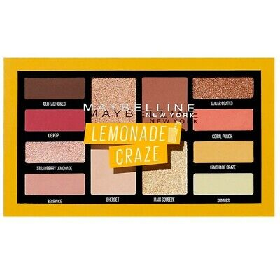 MAYBELLINE Lemonade Craze Paleta Sombra de Ojos Eye Shadow 12 tonos