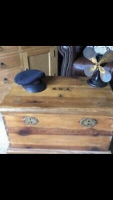 Old PINE CHEST, Wooden Blanket TRUNK, Coffee TABLE Marked GWS