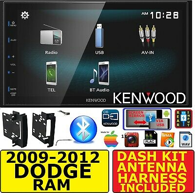 2009-2012 Dodge Ram Truck Kenwood Bluetooth Usb Screen Mirror Radio Stereo Pkg