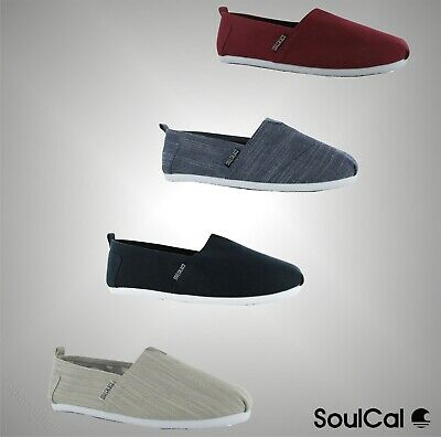 Mens SoulCal Summer Long Beach Canvas Slip Ons Shoes