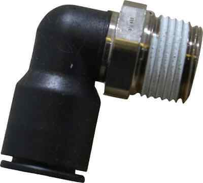 """Legris 1/2"""" OD, 1/2 NPT, Nylon/Nickel Plated Brass Push-to-Connect Male Elbow..."""