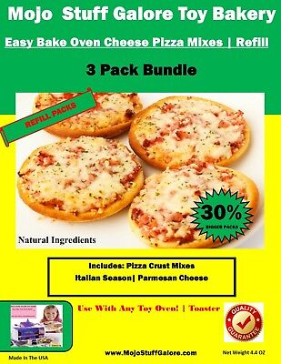 Ultimate Easy Bake Oven Pizza Refill Pack 3 Pizza Dough Mixes
