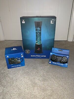 Playstation Collectors Set Including Icons Flow Lamp, Mug And Stress Controller