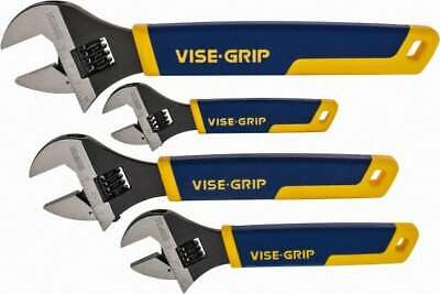 Irwin 4 Piece, Adjustable Wrench Set Inch/Metric System of Measurement, Chrom...