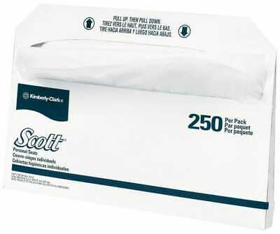 """Scott 17"""" Long x 14-1/2"""" Wide White Toilet Seat Covers 20 Pack, 250 Sheet Roll"""