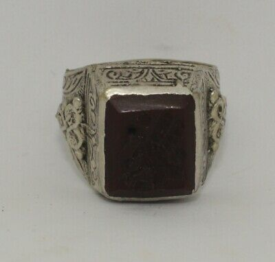 Quality Post Medieval Silver  Intaglio Ring    233