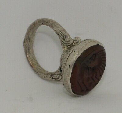 Quality Post Medieval Silver  Intaglio Ring    236