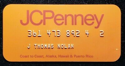 J.C. Penney Company Credit Card orange♡Free Shipping♡cc213♡ Princess Size