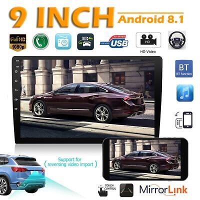 """9"""" 2 DIN Android 8.1 2.5D Curved Screen Car Stereo MP5 Player GPS WiFi BT Radio"""