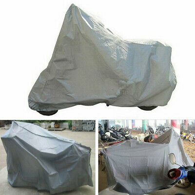 L Waterproof Motorcycle Cover Sheet Motorbike Moped Scooter Rain Large Size