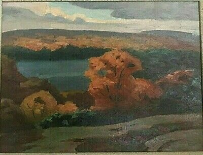 """Lake Muskoka"" - Original Oil Painting by Canadian Artist George Thomson b 1868"