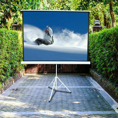 "100"" 4:3 Projector Screen Portable Indoor Outdoor Projection with Stand Tripod"