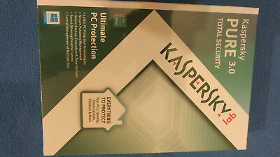 antivirus kaspersky 3.0 Pure Total Security CD-ROM New Sealad and