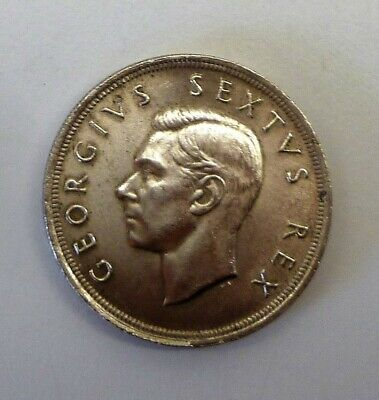 1952 South Africa 5 Shilling Silver Crown Coins Ef