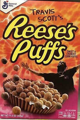 Limited Travis Scott X Reeses Puffs Cereal - Look Mom I Can Fly - SOLD OUT RARE!