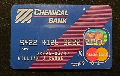 Chemical Bank MasterCard Card Exp 1997 ♡Free Shipping♡cc226♡