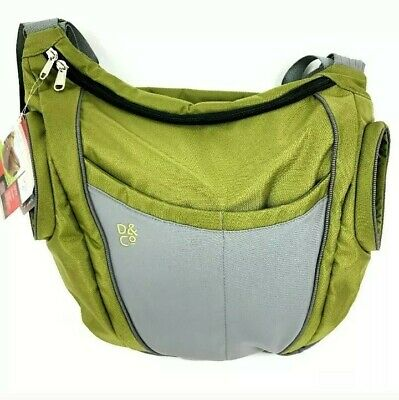 New Daddy and Company Diaper Slide Bag Dad Stylish Large Olive Green baby shower