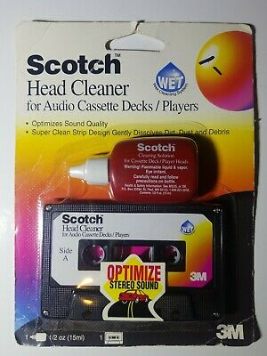 NEW - Scotch Wet Audio Head Cassette Tape Cleaner Kit - 42305 - FREE SHIPPING