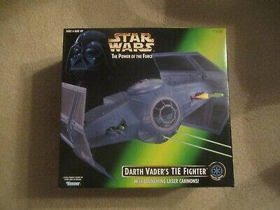 NEW 1996 Kenner Star Wars The Power of the Force Darth Vader's TIE Fighter MINT