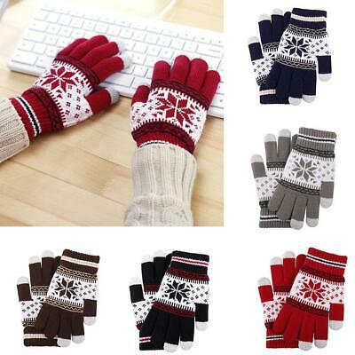 1 Pair Magic Snowflake Gloves Unisex Mens Women Ladies Winter Christmas Gifts