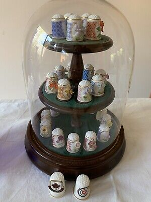 Franklin Mint Country Garden Sculpted Flowers Thimbles