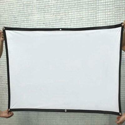 Portable 120'' Foldable 16:9 HD Projector Screen Home Theater Outdoor 3D Movies