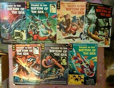 7 VOYAGE TO THE BOTTOM OF THE SEA Gold Key  Comics Rare 3, 5, 6, 9, 11, 13 & 14